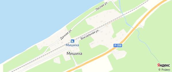 Вокзальная улица на карте поселка Мишихи с номерами домов