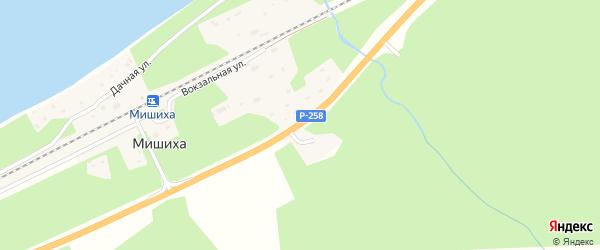 Дорожная улица на карте поселка Мишихи с номерами домов