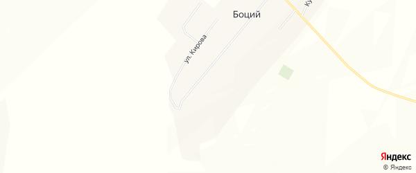 Карта села Боция в Бурятии с улицами и номерами домов
