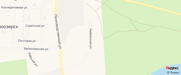 Наймачная улица на карте села Белоозерска с номерами домов