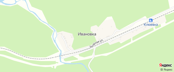 Станционная улица на карте поселка Ивановки с номерами домов