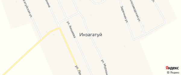 Улица Бубеева на карте улуса Инзагатуй с номерами домов