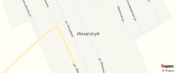 Заречная улица на карте улуса Инзагатуй с номерами домов
