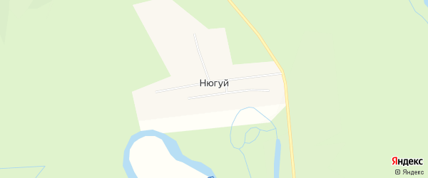 Территория Верхний Ханхар на карте улуса Нюгуй с номерами домов