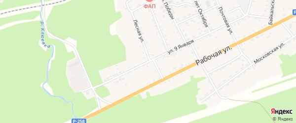 Улица 9 Января на карте поселка Клюевки с номерами домов