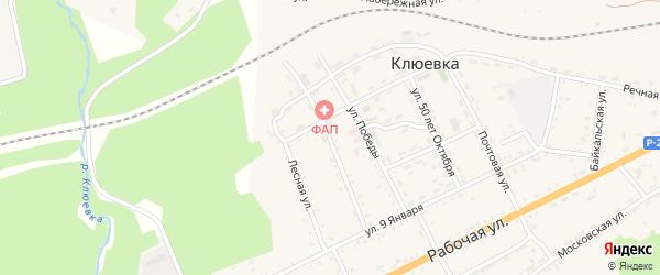 Заводская улица на карте поселка Клюевки с номерами домов