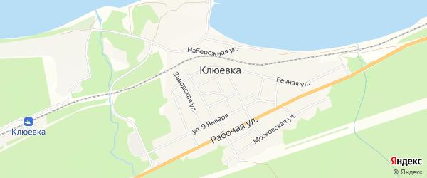 Карта поселка Клюевки в Бурятии с улицами и номерами домов