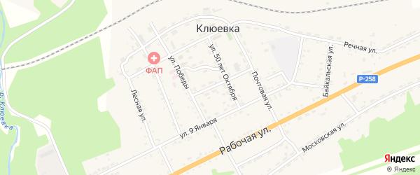 Первомайская улица на карте поселка Клюевки с номерами домов