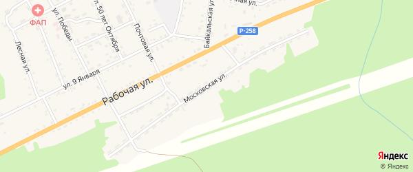 Московская улица на карте поселка Клюевки с номерами домов