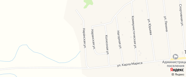 Наранская улица на карте улуса Ташир с номерами домов
