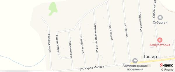 Новая улица на карте улуса Ташир с номерами домов