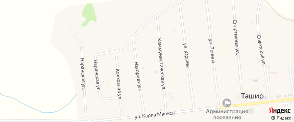 Колхозная улица на карте улуса Ташир с номерами домов