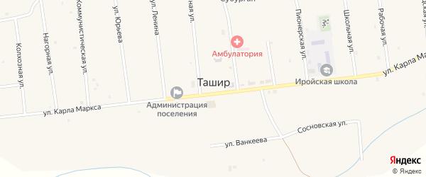 Местность Торма на карте улуса Ташир с номерами домов