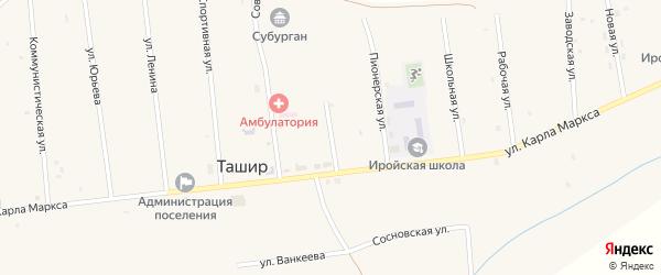 Кооперативная улица на карте улуса Ташир с номерами домов