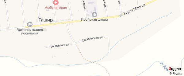 Сосновская улица на карте улуса Ташир с номерами домов