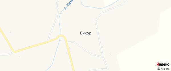 Улица Хайдукова на карте села Енхора с номерами домов