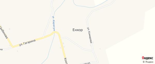 Улица Гагарина на карте села Енхора с номерами домов