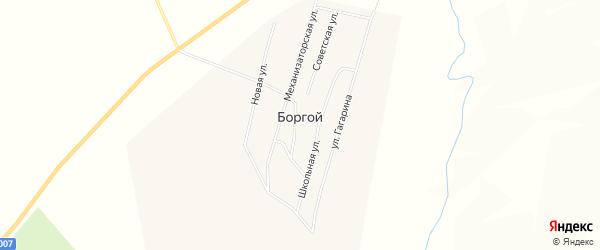 Карта Боргой улуса в Бурятии с улицами и номерами домов