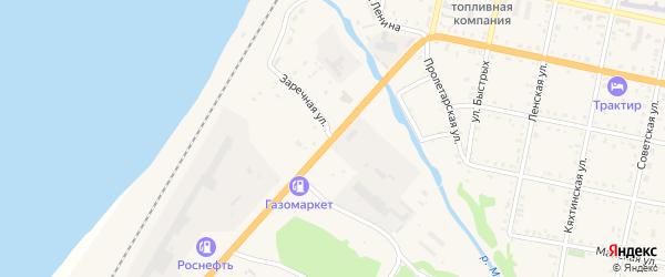 Заречная улица на карте Бабушкина с номерами домов