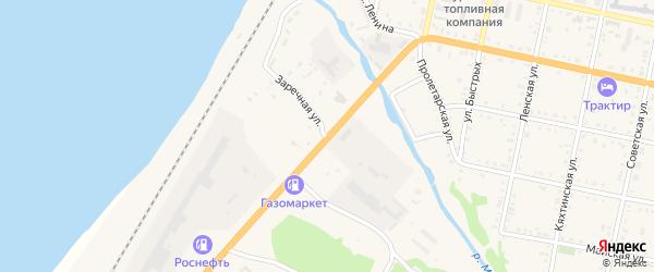Заречная улица на карте садового некоммерческого товарищества Черемушки с номерами домов