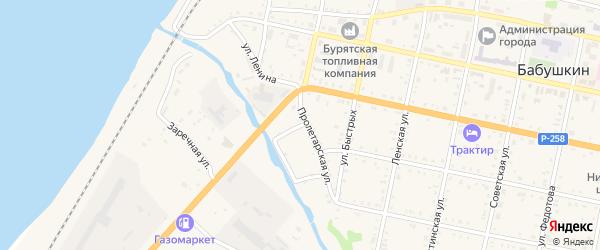 Набережная улица на карте Бабушкина с номерами домов