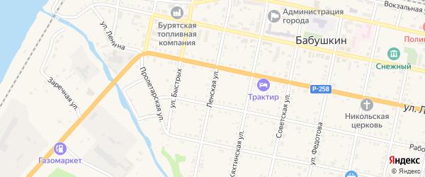 Ленская улица на карте Бабушкина с номерами домов