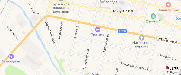 Кяхтинская улица на карте Бабушкина с номерами домов