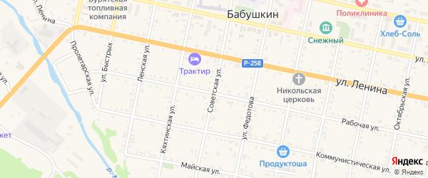 Советская улица на карте Бабушкина с номерами домов