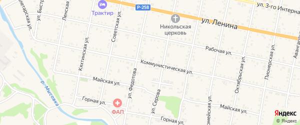 Коммунистическая улица на карте Бабушкина с номерами домов
