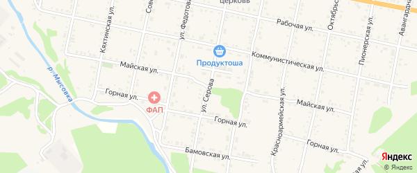 Майская улица на карте Бабушкина с номерами домов