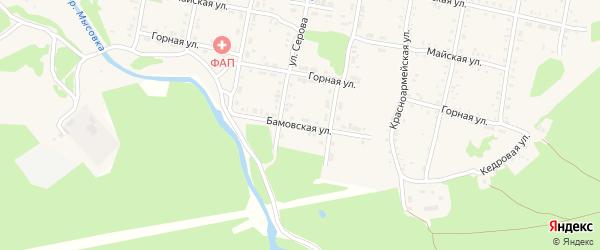 Бамовская улица на карте Бабушкина с номерами домов