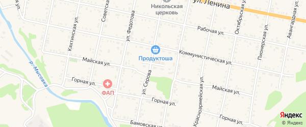 Новый переулок на карте Бабушкина с номерами домов