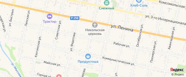 Рабочая улица на карте садового некоммерческого товарищества Черемушки с номерами домов