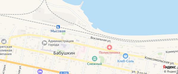 Вокзальная улица на карте поселка Тимлюя с номерами домов
