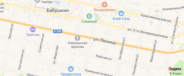 Улица Ленина на карте Бабушкина с номерами домов