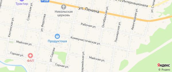 Красноармейская улица на карте Бабушкина с номерами домов