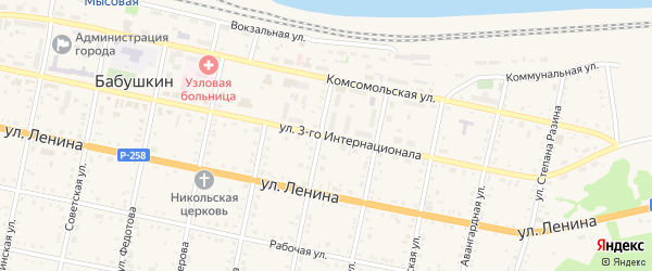 Улица 3 Интернационала на карте Бабушкина с номерами домов