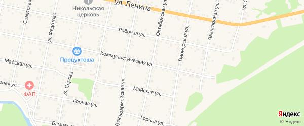 Октябрьская улица на карте Бабушкина с номерами домов
