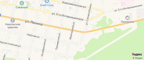 Авангардная улица на карте Бабушкина с номерами домов