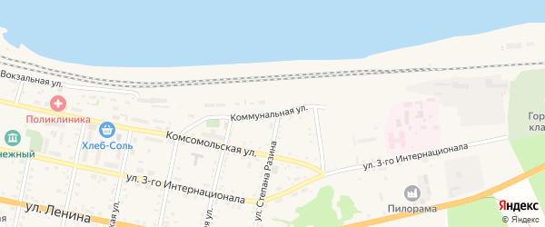 Коммунальная улица на карте Бабушкина с номерами домов