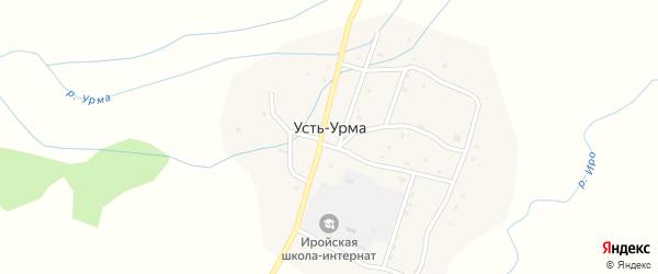 Центральная улица на карте улуса Усть-Урма с номерами домов