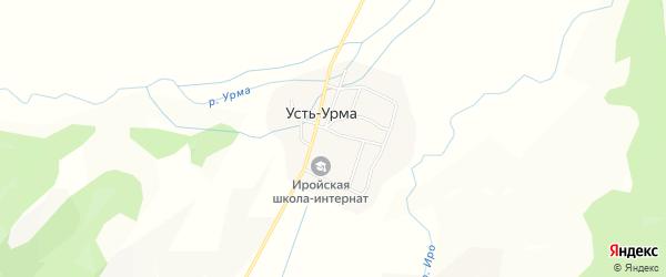 Карта улуса Усть-Урма в Бурятии с улицами и номерами домов