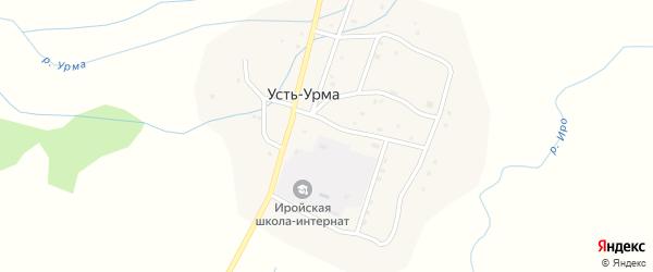 Улица Улан-Дэбэ на карте улуса Усть-Урма с номерами домов