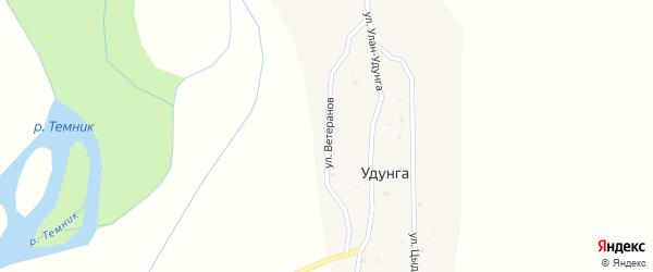 Улица Ветеранов на карте улуса Удунга с номерами домов