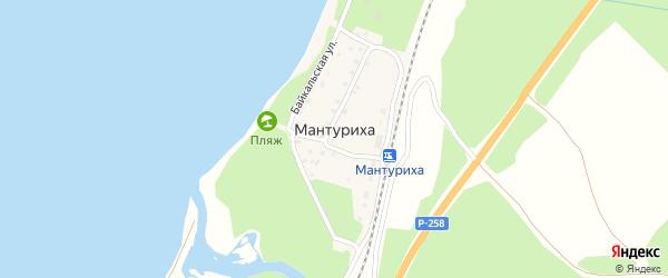 4-й переулок на карте поселка Мантурихи с номерами домов