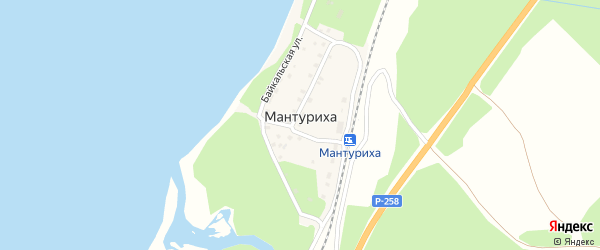 3-й переулок на карте поселка Мантурихи с номерами домов