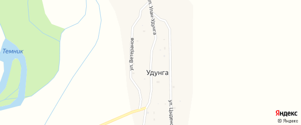 Улица Улан-Удунга на карте улуса Удунга с номерами домов