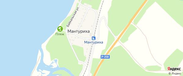 Железнодорожная улица на карте поселка Мантурихи с номерами домов