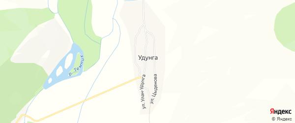 Карта улуса Удунга в Бурятии с улицами и номерами домов