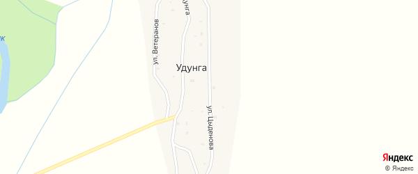 Улица Цыденова на карте улуса Удунга с номерами домов